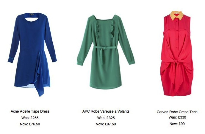 Acne, APC and Carven sale dresses